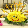 Солнышко из хризантем фото