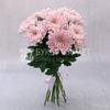 Букет из 9 розовых хризантем фото