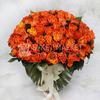 Букет из 101 оранжевой розы фото