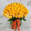 Букет из 101 желтой розы фото