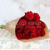Букет из 15 красных роз 60 см. в крафте фото