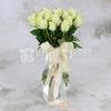 Букет из 25 белых роз 40 см. фото