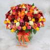 101 разноцветная кенийская роза фото