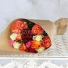 Букет из 15 разноцветных роз 40 см. в крафте фото