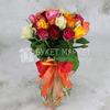 Букет из 25 разноцветных роз 40 см. фото