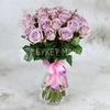 Букет из 25 сиреневых роз фото