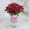 Букет из 25 малиновых кустовых роз фото