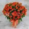 Букет из 51 оранжевой кустовой розы фото