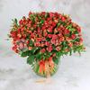 Букет из 51 кустовой розы фото