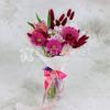 Букет из гербер и кустовой хризантемы в упаковке фото