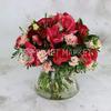 Букет с розами и амариллисами фото