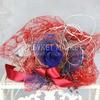 Букет из стабилизированной розы, пшеницы и лаванды в упаковке фото