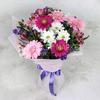 Букет из хризантем и гербер фото