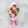 Букет из хризантем и гвоздик фото