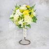 Букет невесты из желтой фрезии, роз и альстромерии фото