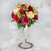 Букет невесты из альстромерии, гвоздики и роз фото