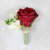 Бутоньерка из фрезии, розы и озатамнуса фото