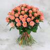 Букет из 51 коралловой розы фото