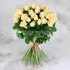 Букет из 51 лимонно-кремовой розы фото