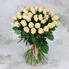 Букет из 51 кремовой розы фото