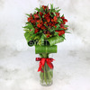 Букет из 17 красных альстромерий фото