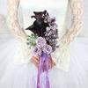 Букет невесты из калл и душистого горошка фото
