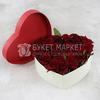 25 красных роз в сердце фото
