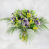 Большой букет из лилий, лизиантуса и маттиолы фото