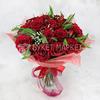 Букет из роз, лимониума и альстромерий фото