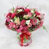 Авторский букет из роз, альстромерий и фрезии фото