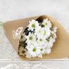 Букет из 3 кустовых хризантем в крафте фото