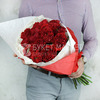 Букет из 15 пионовидных роз - Ред Монстер фото
