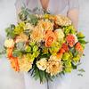 Бизнес букет из роз, хризантем и гвоздик фото