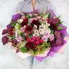 ВИП букет из альстромерий, роз и хризантем фото