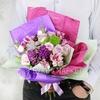 Букет из роз, альстромерий и гвоздик барбарелла фото