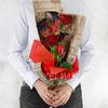 Букет из калл, тюльпанов и роз фото