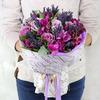 Букет Водолею из роз, фрезий, тюльпанов и альстромерии фото