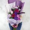 Букет Водолею из гербер, роз и фрезии фото