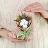 Композиция из сухоцветов хлопок и лаванда фото