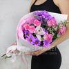 Букет из хризантем, роз и орхидеи фото