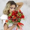 Букет невесты из роз, тюльпанов и альхемилл фото