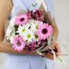 Букет из гербер, хризантем и альстромерий фото