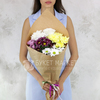 Букет из 5 кустовых хризантем фото
