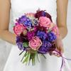 Букет невесты из калл, роз и гиацинта фото
