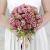 Букет невесты из кустовых роз и питтоспорума фото