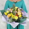 Букет Близнецам из роз, калл и эхинопса фото