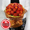 Букет из 29 оранжевых роз фото