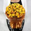 Букет из 25 желтых кустовых роз фото