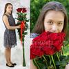 Букет из 9 красных длинных роз фото