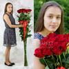 Букет из 15 красных длинных роз фото